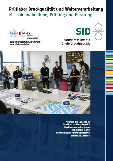 laboratory for printing quality - brochure - image