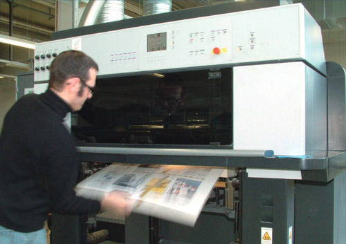 Test laboratory for printing quality